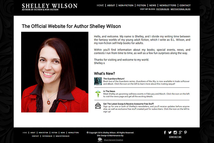 Shelley Wilson Website: Home