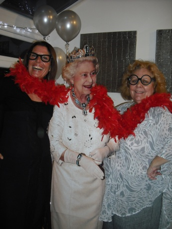 Carols party - the Queen