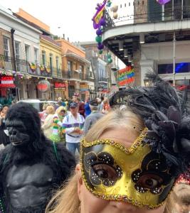 Author Shelley Wilson, Mardi Gras 2020